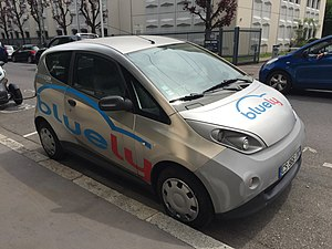 Bolloré Bluecar - Bluecar in service for the Bluely scheme in Lyon.