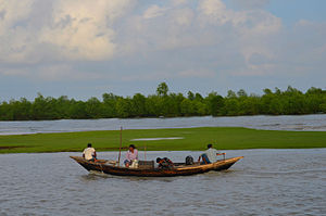 Meghna River - Boat in Meghna River