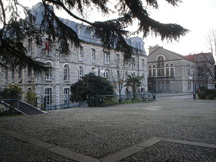 Bogazici University, established in 1863 as Robert College, is the oldest American higher education institution founded outside the United States. Today, it is the highest ranked university in Istanbul. Bogazici1stMensDorm.JPG