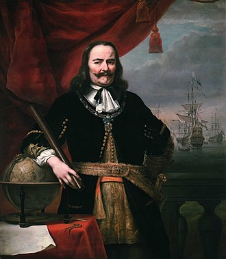 Military history of the Netherlands - Michiel Adriaenszoon de Ruyter, Lieutenant-Admiral of the United Provinces by Ferdinand Bol, painted 1667