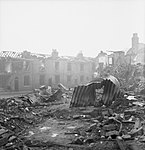 Bomb damage on James Street, Aston Newtown, Birmingham, 1940. D4127.jpg