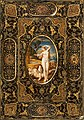 Book Cover, painted leather, late 16th century, Book Cover - Google Art Project (cropped).jpg