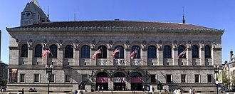 Boston Public Library, McKim Building - Boston Public Library, McKim Building in Copley Square