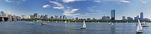 Boston Skyline, SONY NEX-5 Panorama Mode (4765830049)