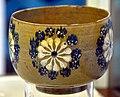 Bowl with rosette decoration. Canakkale, glazed. 2nd half of the 18th century-19th century CE. Museum of Islamic Art (Tiled Kiosk), Istanbul, Turkey.jpg