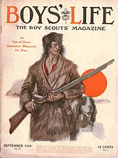 The cover of the September 1919 issue of Boys' Life