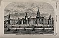 Branch Insane Asylum, Napa, California. Wood engraving by F. Wellcome V0013977.jpg