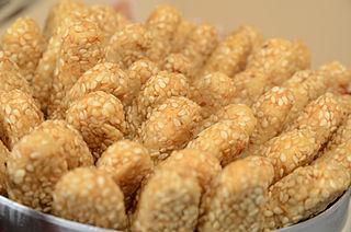 アラブ料理のごまパン