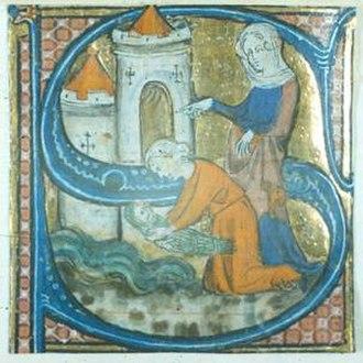 Chertsey - folio 6r of a Breviary of Chertsey Abbey