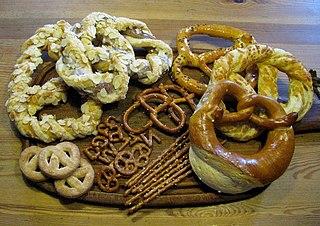 Pretzel type of baked bread