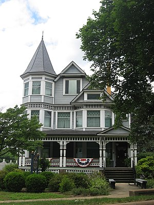 National Register of Historic Places listings in Holmes County, Ohio - Image: Brightman House in Millersburg, front