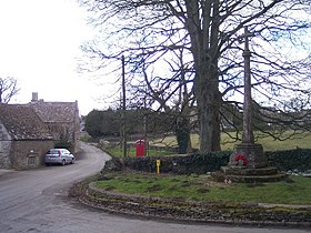 Brimpsfield Village Street and War Memorial - geograph.org.uk - 130887.jpg