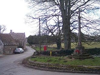 Brimpsfield - Image: Brimpsfield Village Street and War Memorial geograph.org.uk 130887