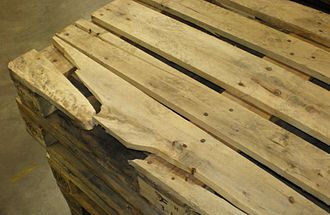 EUR-pallet - Broken pallets are not swappable - they must be repaired or removed from the pool
