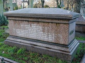 Robert Rawlinson - Funerary monument, Brompton Cemetery, London