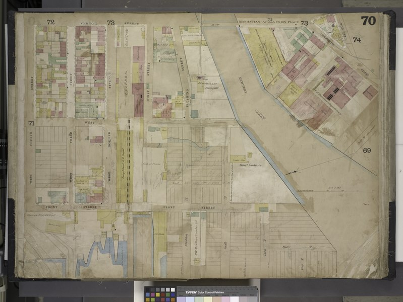 File:Brooklyn, Vol. 4, Double Page Plate No. 70; (Map bounded by Vernol Ave., Manhattan Ave. late Union Ave., Commercial St., Box St., Bell St. (Not Opened), Newtown Creek, River St; Including Pier St., NYPL1695437.tiff
