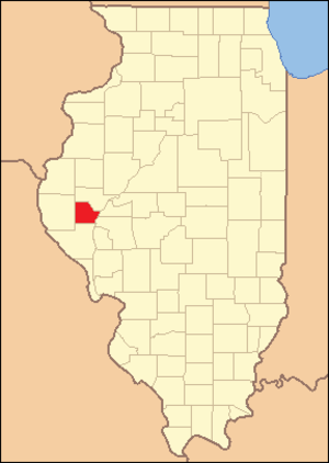 Brown County, Illinois - Image: Brown County Illinois 1839