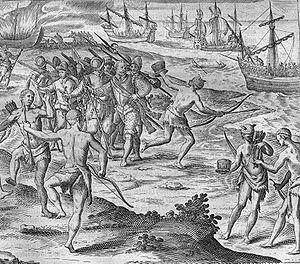 Johann Theodor de Bry - Francis Drake at the Rio de la Plata