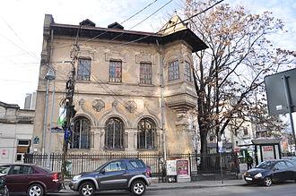 N. Petrașcu - 2014 photo of Petrașcu's house in Bucharest, Piața Romană, nr. 1, designed by Ion Mincu