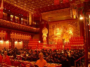Buddha Tooth Relic Temple and Museum - Image: Buddha Tooth Relic Temple and Museum Inside