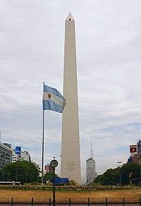 Obelisco de Buenos Aires desde el frente norte