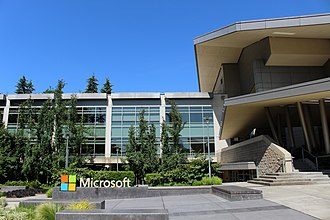 Microsoft Redmond campus - Building 92, home of the Microsoft Visitor Center