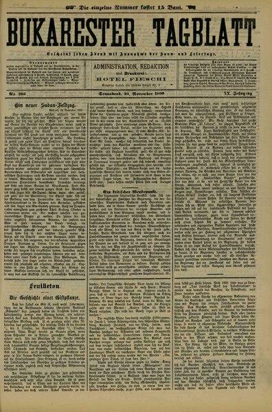 File:Bukarester Tagblatt 1899-11-25, nr. 265.pdf