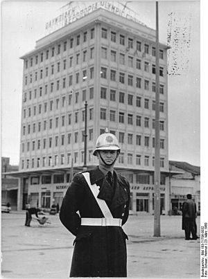 City Police (Greece) - Α road traffic policeman of the City Police in 1960, Athens