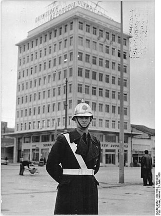 Cities Police - Α road traffic policeman of the Cities Police in 1960, Athens