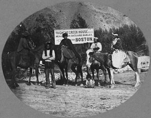 Cache Creek, British Columbia - Bonaparte River Indians on horseback, 2 mi. from Cache Creek