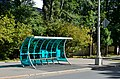 Bus shelter at VDNKh in Moscow.jpg