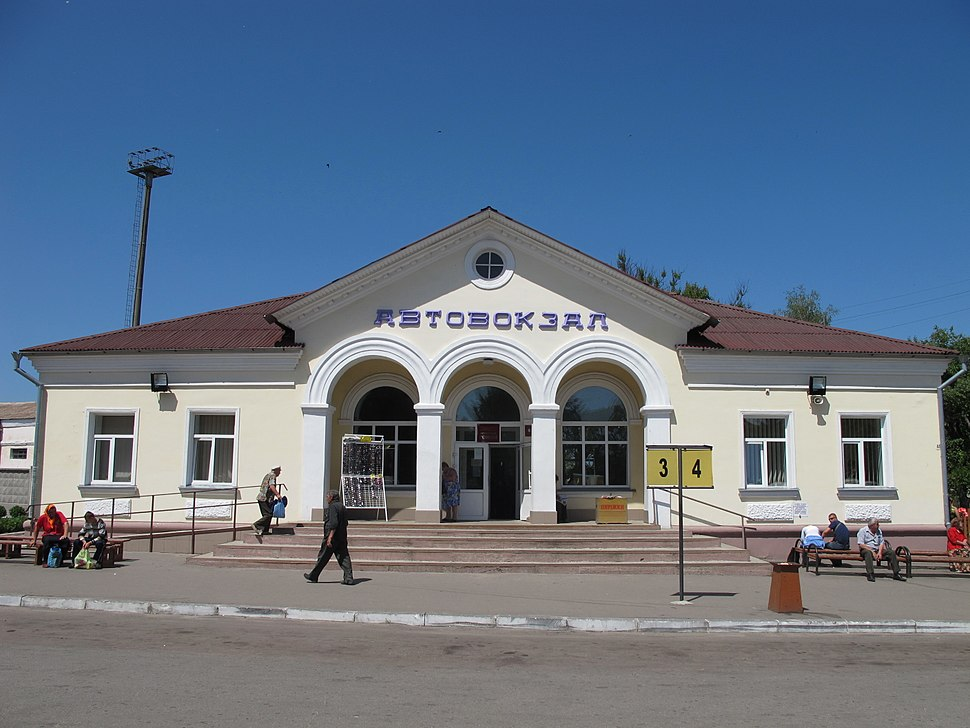 Bus station in Romny