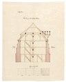 Byggnadsritning för ombyggnad av S-t Georg kyrka till tyghus och magasin, 1670-tal - Skoklosters slott - 98942.tif