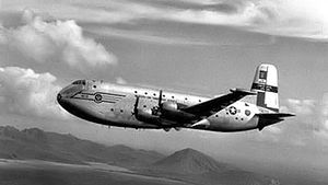 48th Air Transport Squadron - C-124 Globemaster II over Hawaii about 1957