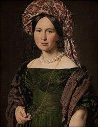 Йенсен, Христиан Альбрехт: Portrait of Cathrine Jensen, née Lorenzen, the Artist's Wife Wearing a Turban