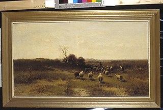 Een herder met zijn kudde