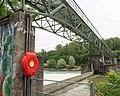 CKW Rathausen Stauwehr mit Werksbrücke Reuss Ebikon LU - Emmen LU 20160725-jag9889.jpg