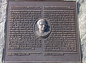 Helen Sawyer Hogg - Plaque to Helen Sawyer Hogg at Canada Science and Technology Museum