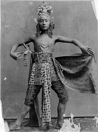 Javanese dance - Javanese dancer, 1885
