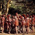 COLLECTIE TROPENMUSEUM Masai krijgers tijdens een dans TMnr 20038842.jpg
