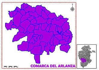 Arlanza (comarca) - Image: COMARCA DEL ARLANZA