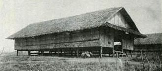 Raid at Cabanatuan - A hut used to house prisoners in the camp