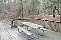 Cabin 9 picnic table grill deck First Landing State Park (32367927704).jpg
