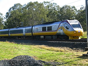 English: On of the two Cairns Tilt Trains in Q...