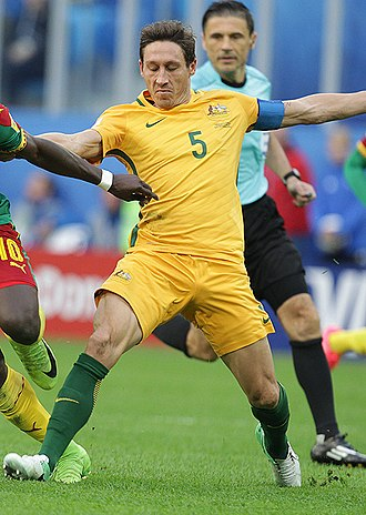 Mark Milligan - Milligan playing for Australia at the 2017 FIFA Confederations Cup