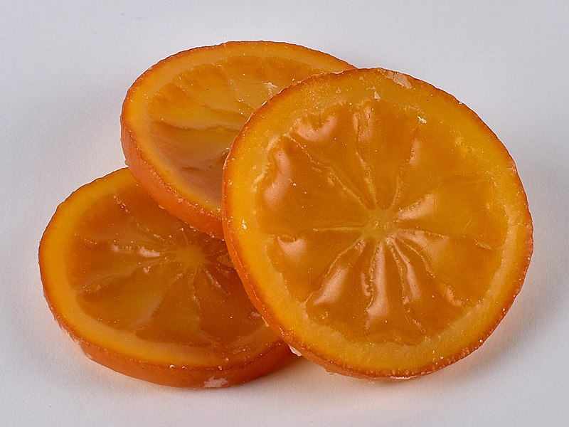 Candied orange by Sebastian Koppehel, Uploaded to Wikimedia Commons under CC-BY-4.0