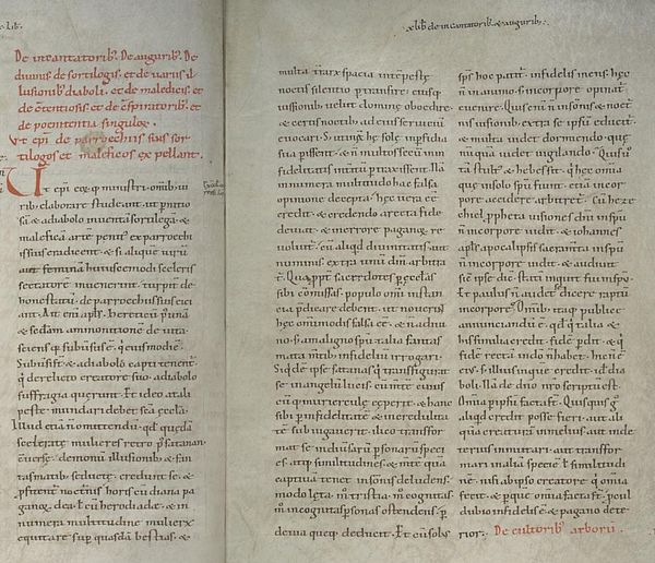 The text of the canon Episcopi in Hs. 119 (Cologne), a manuscript of Decretum Burchardi dated to ca. 1020. Canon Episcopi Hs119.jpg