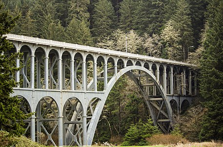 Cape Creek Bridge in Oregon, a National Historical monument
