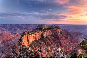 Grand Canyon National Park - Sunset at Cape Royal Point, Grand Canyon National Park North Rim