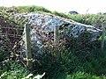 Capstone of Trewalter burial chamber - geograph.org.uk - 421527.jpg
